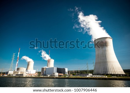 Tihange Nuclear Power Station in Belgium #1007906446