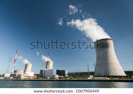 Tihange Nuclear Power Station in Belgium #1007906449