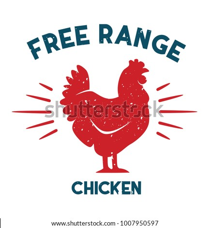 free range chicken vector file
