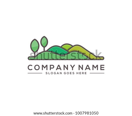 hill logo template Royalty-Free Stock Photo #1007981050