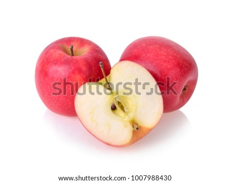 pink lady apples isolated on white background #1007988430