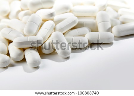 Closeup of tablets, copy space #100808740
