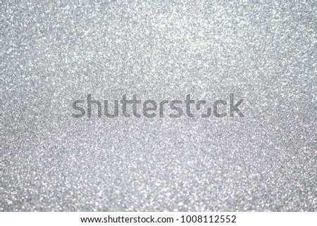 Silver background Abstract Bokeh Christmas. #1008112552