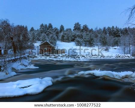Old Finnish mill. the river Vuoksi. the Karelian isthmus. Russia #1008277522