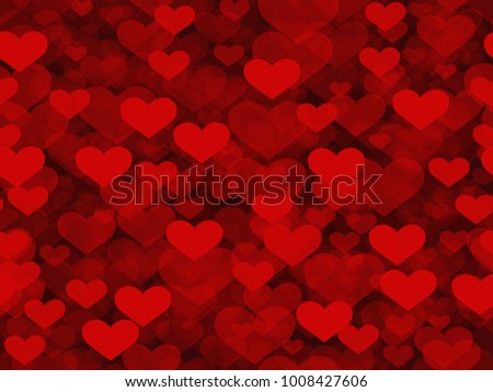 Happy Valentine's day red - seamless pattern vector illustration #1008427606