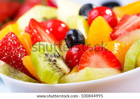 salad with fresh fruits and berries #100844995
