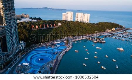 Aerial view of  Pattaya , Thailand . #1008532504