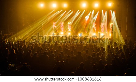 Belgrade, Serbia - January 19th, 2018: German thrash metal band Kreator performing at Belgrade Metal Meeting Festival #1008681616