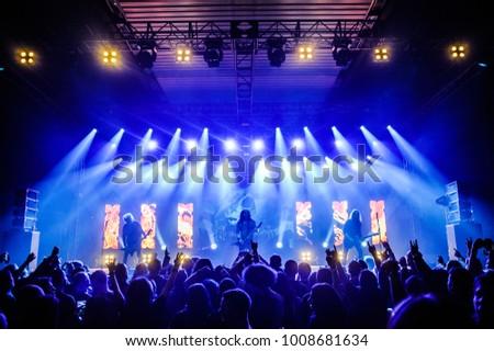 Belgrade, Serbia - January 19th, 2018: German thrash metal band Kreator performing at Belgrade Metal Meeting Festival #1008681634