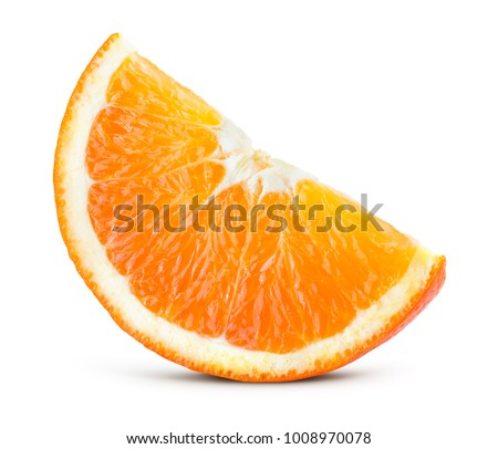 Orang fruit isolate. Orange slice. With clipping path. #1008970078