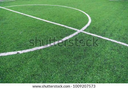 Soccer field with textured background grass Royalty-Free Stock Photo #1009207573