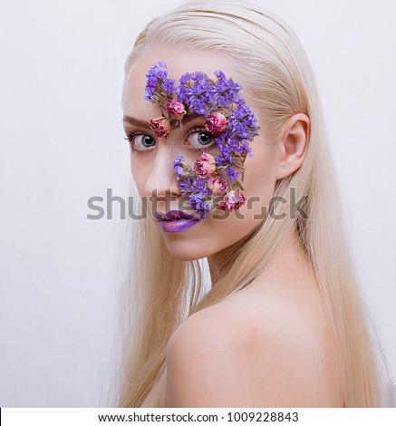 Creative makeup woman #1009228843