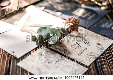 Wedding invitation. Wedding details
