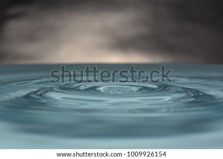 water drop closeup  #1009926154