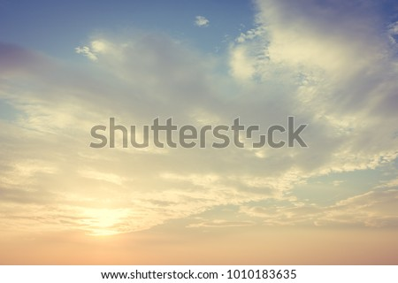 Sunset with cloud on sky background #1010183635