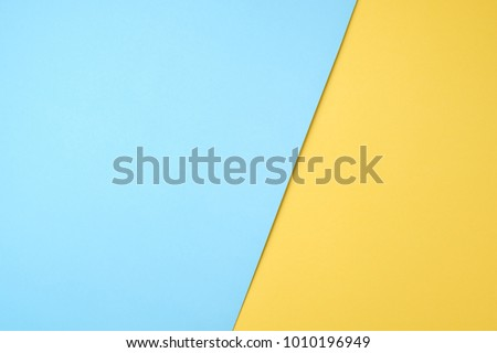 blue and yellow pastel paper color for background Royalty-Free Stock Photo #1010196949