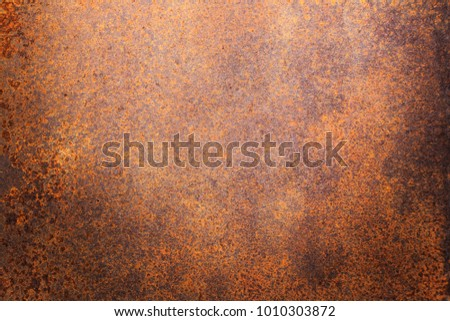 Rusty metal texture background for interior exterior decoration and industrial construction concept design. Royalty-Free Stock Photo #1010303872