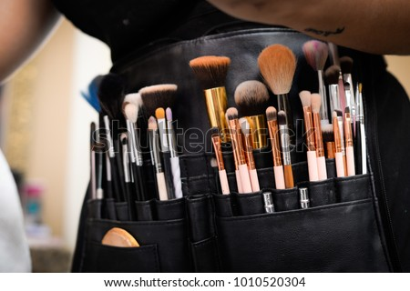 Professional Makeup Brushes in Leather Bag #1010520304