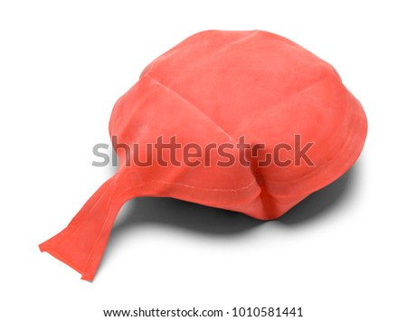 Red Rubber Whoopie Cushion Isolated on a White Background. #1010581441