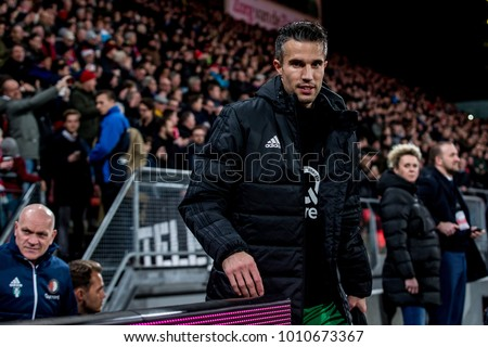 NETHERLANDS, UTRECHT 24th jan 2018 Robin van Persien during he's first match for Feyenoord Rotterdam again FC Utrecht back after Fenerbahce, Manchester United and Arsenal #1010673367
