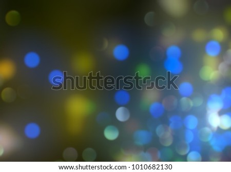 Bokeh abstract texture. Colorful. Defocused background. Blurred bright light. Circular points. #1010682130