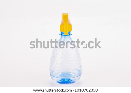 transparent plastic water sprayer isolated on white background #1010702350