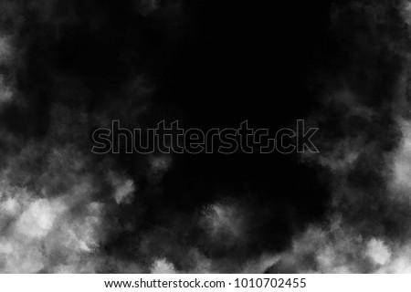 Smoke and powder overlay on black background #1010702455