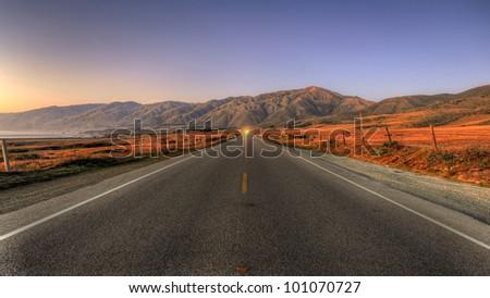 California Coast Highway 1 near San Simeon Royalty-Free Stock Photo #101070727