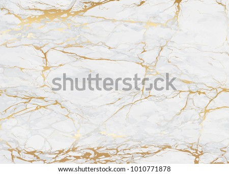 Marble with golden texture background vector illustration Royalty-Free Stock Photo #1010771878