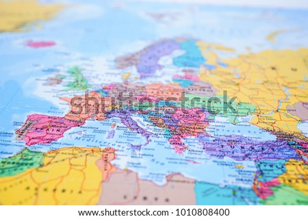 Map of Europe closed up #1010808400