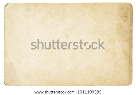 Vintage paper background isolated - (clipping path included) #1011109585