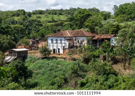 Ancient colonial farm in the municipality of Guarani, Minas Gerais, Brazil. #1011111994