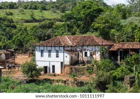 Ancient colonial farm in the municipality of Guarani, Minas Gerais, Brazil. #1011111997