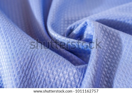 Natural fabric texture. A tissue sample. Selective focus #1011162757