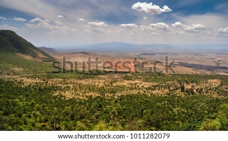 The Great Rift Valley from the Kamandura Mai-Mahiu Narok Road, Kenya, Africa #1011282079