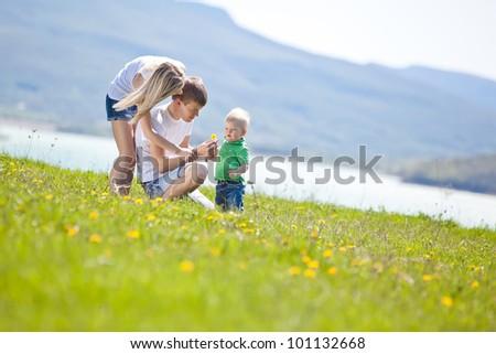 happy family having fun outdoors #101132668