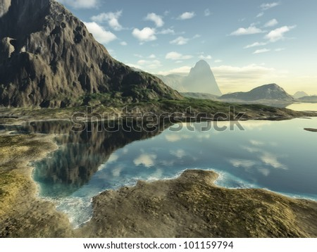 An image of a nice fantasy landscape #101159794