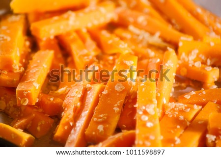 Pumpkin fries food #1011598897