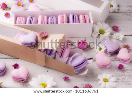 sweets and flowers for St. Valentine's Day #1011636961