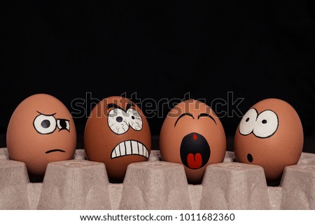 A group of smiley face. Anger. Shows the language. Disbelief. Wonder. Royalty-Free Stock Photo #1011682360