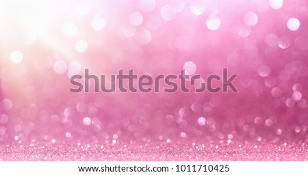 Pink Glitter With Sparkle Of Lights And Stars #1011710425