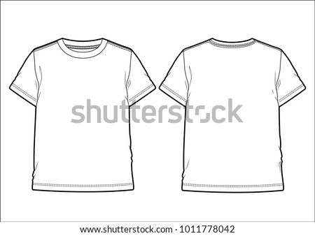 Front and back view of a men's T-shirt