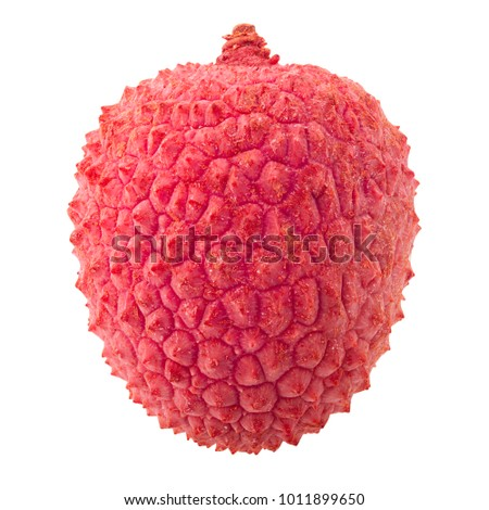 lychee, clipping path, isolated on white background, full depth of field #1011899650