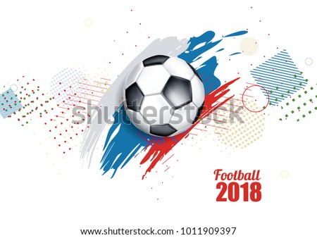 vector illustration of a football cup 2018. design of a stylish background for the soccer championship. vector realistic 3d ball. element for design cards, invitations, gift cards, flyers, vector