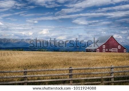 Montana Countryside Barn