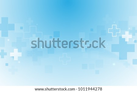 Abstract geometric medical cross shape medicine and science concept background Royalty-Free Stock Photo #1011944278