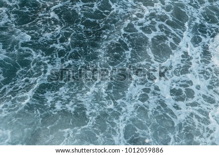 Sea Ocean wave top view texture pattern for water nature background #1012059886