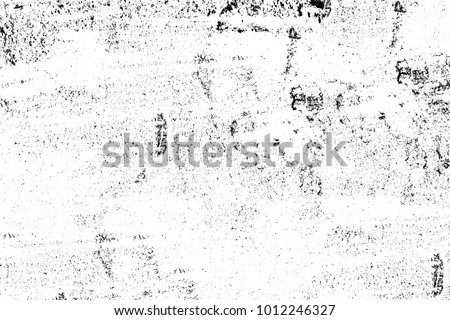 Black and white texture in art style. Fantastic monochrome background. Pattern from the chaos of dots, spots, lines, cracks. Grunge dark surreal #1012246327