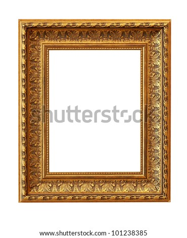 The picture frame isolated on white #101238385
