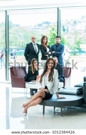 Business People Meeting Conference Discussion Corporate Concept  #1012384426